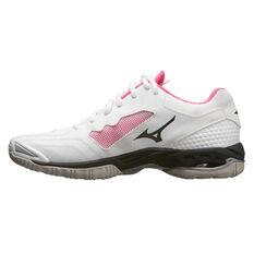 Mizuno Wave Phantom 2 Womens Netball Shoes White / Black US 6.5, White / Black, rebel_hi-res