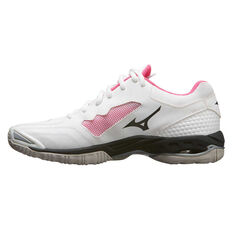 Mizuno Wave Phantom 2 Womens Netball Shoes White / Black US 7, White / Black, rebel_hi-res
