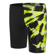 Speedo Boys School Colours Jammer Black 6, Black, rebel_hi-res
