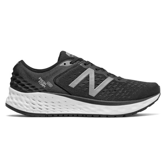 New Balance 1080v9 Mens Running Shoes, Black / White, rebel_hi-res