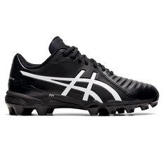 Asics Lethal Ultimate Kids Football Boots Black/White US 2, Black/White, rebel_hi-res