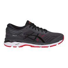 Asics GEL Kayano 24 Mens Running Shoes Grey / Red US 7, Grey / Red, rebel_hi-res