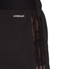 adidas Womens Tiro Pride Football Shorts, Black, rebel_hi-res