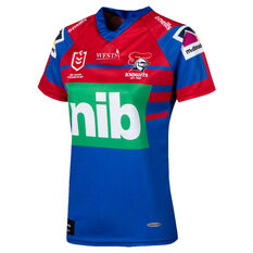 Newcastle Knights 2020 Womens Home Jersey Blue/Red 8, Blue/Red, rebel_hi-res