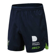 Canberra Raiders 2020 Mens Training Shorts Navy S, Navy, rebel_hi-res