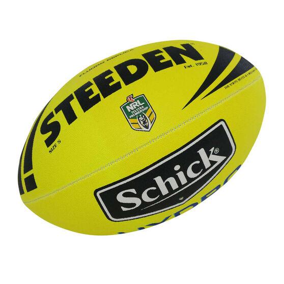 Steeden NRL Fluoro Replica Rugby League Ball, , rebel_hi-res