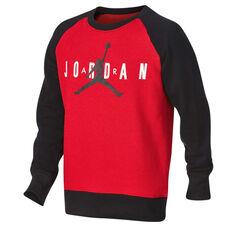 e298015e2e4132 Nike Boys Jordan Jumpman Air Crew Sweatshirt Red   Black S