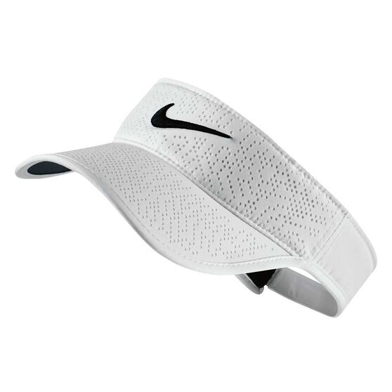 Nike Womens Tech Adjustable Golf Visor White / Black OSFA, , rebel_hi-res
