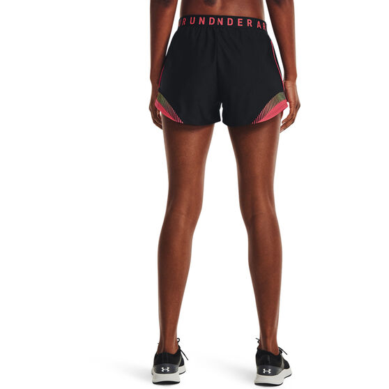 Under Armour Womens Play Up 3.0 Tri Colour Shorts, Black, rebel_hi-res