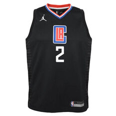 Nike Los Angeles Clippers Kawhi Leonard 2020/21 Kids Statement Swingman Jersey Black S, Black, rebel_hi-res