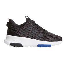 adidas Cloudfoam Racer TR Kids Casual Shoes Black / Black US 1, Black / Black, rebel_hi-res