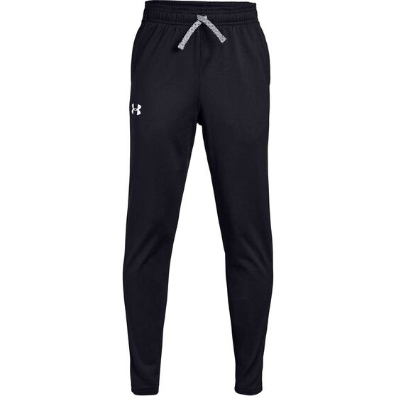 Under Armour Boys Brawler Tapered Pants, Black / White, rebel_hi-res