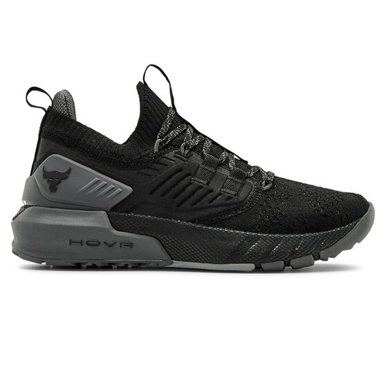Under Armour Project Rock 3 Womens Training Shoes, Black/Grey, rebel_hi-res