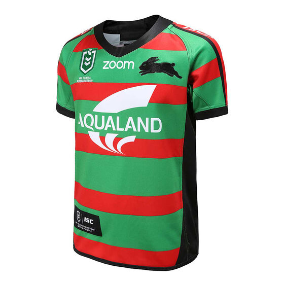 South Sydney Rabbitohs 2020 Kids Home Jersey, Green / Red, rebel_hi-res