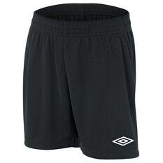 Umbro League Junior Football Shorts Black S, Black, rebel_hi-res