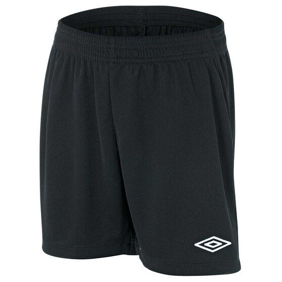 Umbro League Junior Football Shorts, Black, rebel_hi-res