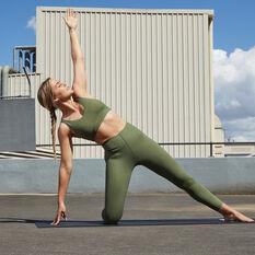 adidas Womens Cozy Yoga Sports Bra Khaki XS, Khaki, rebel_hi-res