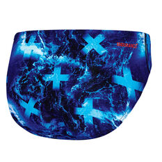 Speedo Mens Pacific Ocean Swim Briefs Blue 14, Blue, rebel_hi-res