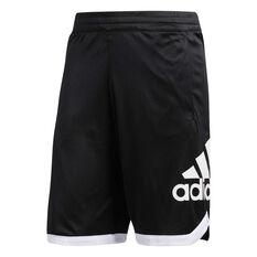 67ea3d717fd adidas Mens Badge of Sport Basketball Shorts Black S, Black, rebel_hi-res