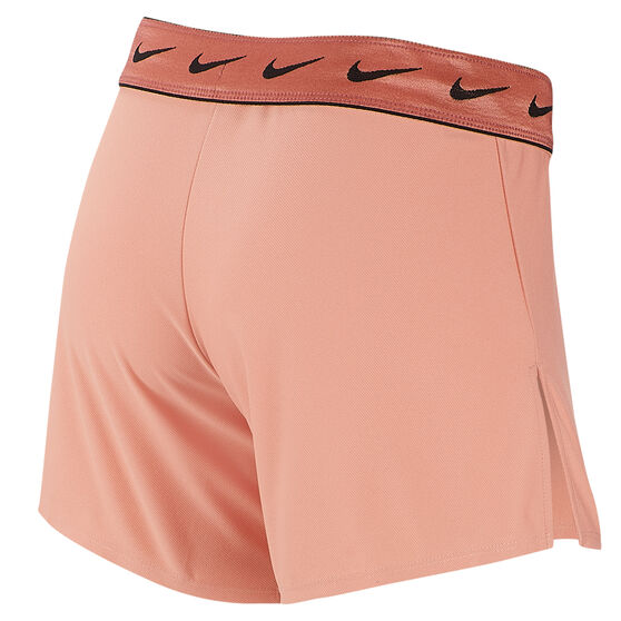 Nike Womens Dri FIT Attack Training Shorts, Pink, rebel_hi-res