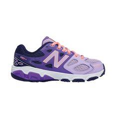 New Balance 680v3 Girls Running Shoes Purple / Grape US 1, Purple / Grape, rebel_hi-res
