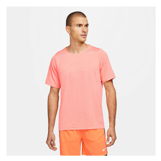 Nike Mens Rise 365 Run Division Running Tee, Orange, rebel_hi-res