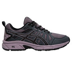 Asics GEL Venture 7 D Mens Trail Running Shoes Black / Grey US 6, Black / Grey, rebel_hi-res