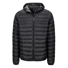 Macpac Men's Uber Light Hooded Down Jacket Black S, Black, rebel_hi-res