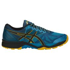 Asics GEL Fuji Trabuco Mens Trail Running Shoes Blue / Black US 7, Blue / Black, rebel_hi-res
