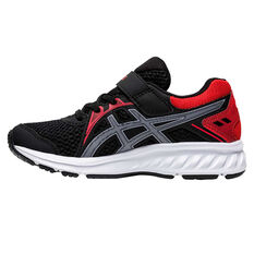 Asics Jolt 2 Kids Running Shoes Black/Red US 11, Black/Red, rebel_hi-res