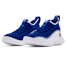 Under Armour Curry 8 Kids Basketball Shoes Royal US 7, Royal, rebel_hi-res