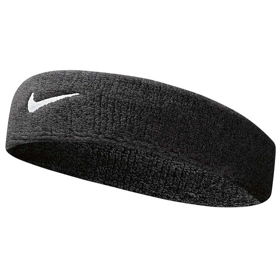 nike swoosh headband black white rebel sport