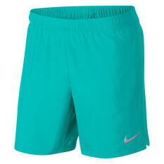 Nike Mens Challenger 7in BF Running Shorts Green S, Green, rebel_hi-res