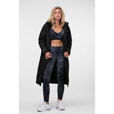 L'urv Womens Elements long Puffer Jacket Black XS, Black, rebel_hi-res