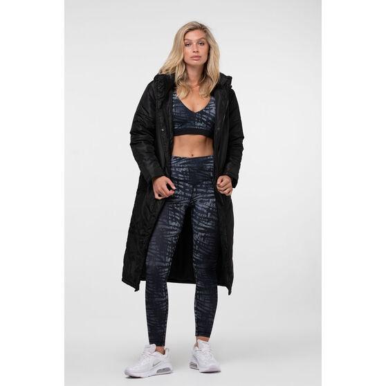 L'urv Womens Elements long Puffer Jacket, Black, rebel_hi-res