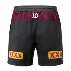 QLD Maroons State of Origin 2020 Mens Training Shorts Grey S, Grey, rebel_hi-res