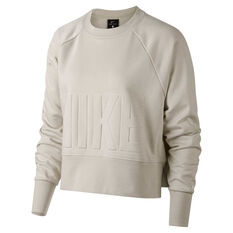 Nike Womens Versa Crew Sweater Light Bone XS, , rebel_hi-res