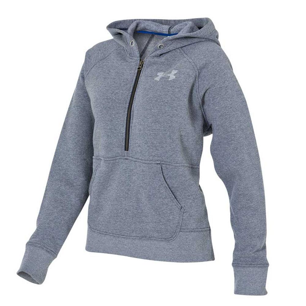 Under Armour Womens Favourite Fleece Half Zip Hoodie Navy   White M Adult 6064bf553