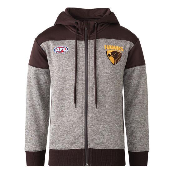 Hawthorn Hawks 2021 Mens Ultra Hoodie, Grey, rebel_hi-res