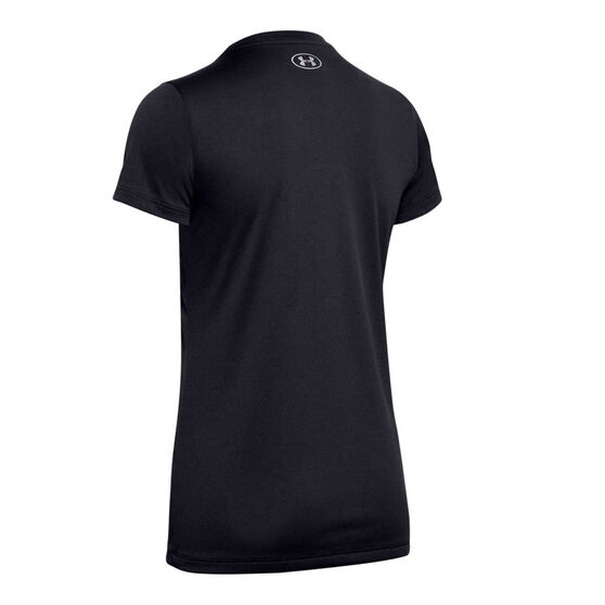 Under Armour Womens Tech Graphic Tee, Black, rebel_hi-res