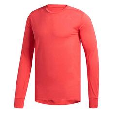 adidas Mens Supernova Running Tee Red S, Red, rebel_hi-res
