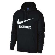 Nike Mens Just Do It Hoodie Black S, Black, rebel_hi-res
