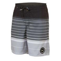 Quiksilver Boys Swell Vision Board Shorts Grey / Black 8, Grey / Black, rebel_hi-res