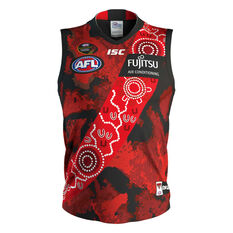 Essendon Bombers 2019 Mens Dreamtime Guernsey Red / Black S, Red / Black, rebel_hi-res