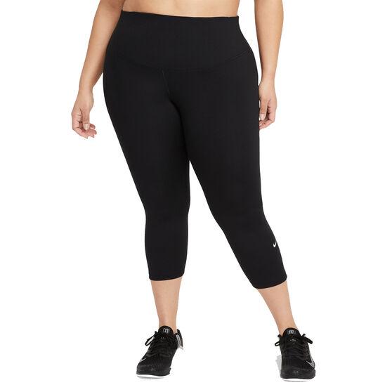 Nike One Womens Capri Tights, Black, rebel_hi-res
