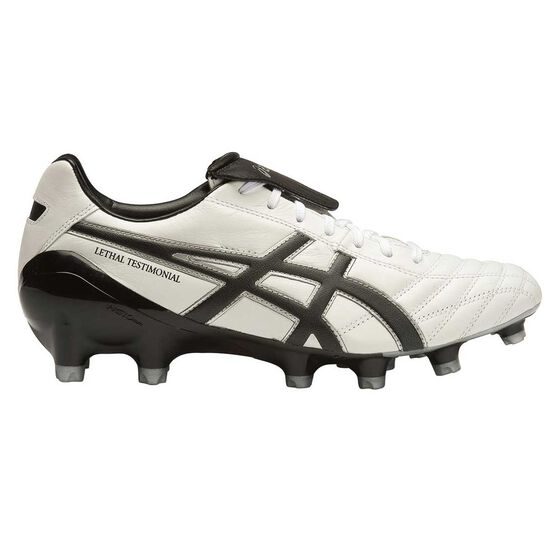 Asics Lethal Testimonial 4 IT Mens Football Boots White / Black US 9, White / Black, rebel_hi-res