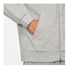 Nike Mens Dri-FIT Full-Zip Training Hoodie, Grey, rebel_hi-res