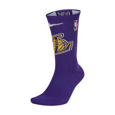 Nike Los Angeles Lakers 2019/20 Elite Crew Socks Purple M, Purple, rebel_hi-res