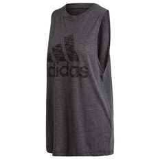 adidas Womens Winners Tank Black XS, Black, rebel_hi-res