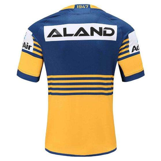 Parramatta Eels 2020 Mens Home Jersey, Yellow / Blue, rebel_hi-res